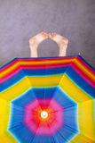 cieki tęcza parasoli Zdjęcia Royalty Free