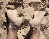 Cieki w piasku pla?a obrazy royalty free