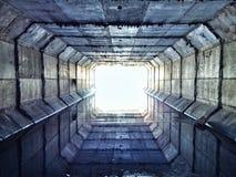 Ściekowy tunel Zdjęcia Royalty Free