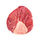 Cielęciny pokrojona część odizolowywająca mięso Obrazy Royalty Free