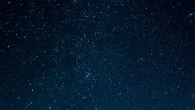 Ciel étoilé avec des étoiles filantes, laps de temps banque de vidéos