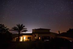 Ciel étoilé en Majorque Image libre de droits