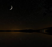 Ciel étoilé, et Moon Bay Photo libre de droits