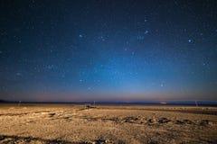 Ciel étoilé sur la montagne andine desertic, Bolivie Photographie stock libre de droits