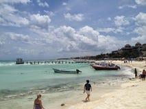 Ciel étonnant dans le Playa del Carmen Image libre de droits