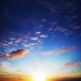 Ciel étonnant de coucher du soleil Photo libre de droits