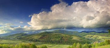 Ciel après tempête Image libre de droits
