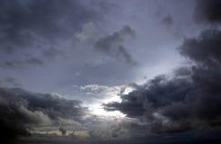 Ciel argenté Photos libres de droits