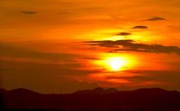 Ciel au coucher du soleil, Thaïlande Image stock