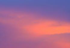 Ciel au coucher du soleil, Thaïlande Photographie stock libre de droits
