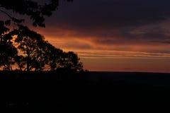 Ciel au crépuscule dans la région de pampa, Brésil Photos libres de droits