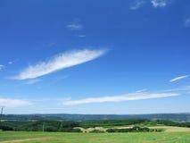 Ciel au-dessus de Hunsrück et d'Eifel Images libres de droits