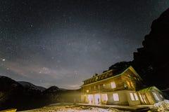 Ciel au-dessus de hutte Ray Photo libre de droits