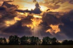 Ciel au-dessus de Thee Photo libre de droits