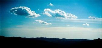 Ciel au-dessus des côtes Photographie stock