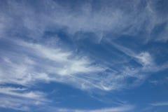 Ciel avec des nuages Images libres de droits