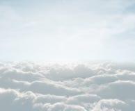 Ciel avec des nuages Photographie stock