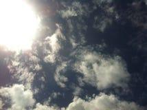 Ciel avec des nuages Photographie stock libre de droits