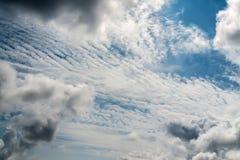 Ciel avec des nuages Image stock