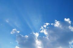 Ciel avec des nuages Photo stock