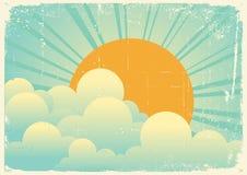 Ciel avec des nuages de beautifull Photo libre de droits