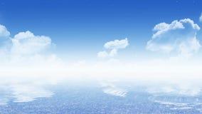 Ciel avec la mer (papier peint de 16:9) image libre de droits