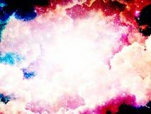 Ciel avec le fond brouill? par nuages Conception d'illustration images libres de droits