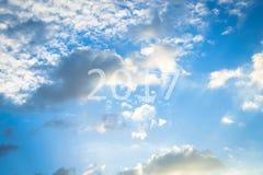 Ciel avec le nuage Image libre de droits