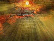 Ciel avec le testament neuf Images libres de droits