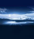 Ciel blanc avec des planètes Photo libre de droits