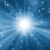 ciel bleu étoilé Image libre de droits