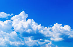 Ciel bleu Photo stock