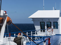 Ciel bleu atlantique de pont en ferry Photos libres de droits