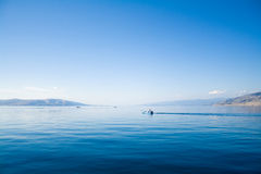 Ciel bleu au-dessus de la mer bleue Image libre de droits