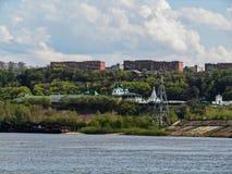 Ciel bleu au-dessus de Nizhny Novgorod images libres de droits