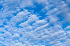Ciel bleu avec des coulds de cirrus Images stock