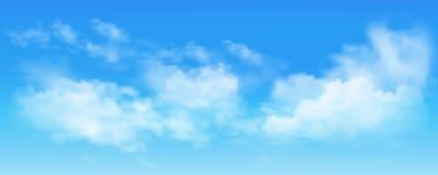 Ciel bleu avec des nuages illustration libre de droits