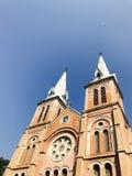 Ciel bleu avec la cathédrale Image libre de droits