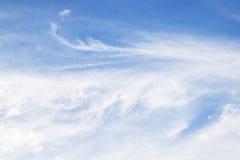Ciel bleu avec le nuage Photo libre de droits