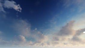 Ciel bleu-clair avec les nuages blancs Photographie stock libre de droits