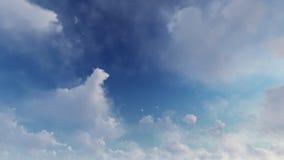 Ciel bleu-clair avec les nuages blancs Photo libre de droits
