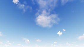 Ciel bleu-clair avec les nuages blancs Images stock