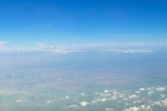 Ciel bleu d'espace libre de vue aérienne Images libres de droits