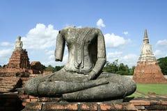 ciel bleu de Bouddha d'ayuthaya Images stock