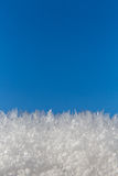 Ciel bleu de cristal de glace Photographie stock libre de droits