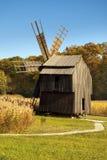 Ciel bleu de fond de forêt de moulin à vent de Wodden Photographie stock