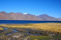 ciel bleu de lac de pangong Image stock