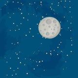 Ciel bleu de lune Image stock