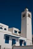 ciel bleu de maison blanche Image stock
