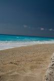 Ciel bleu de mer de plage de Leucade Grèce Images libres de droits